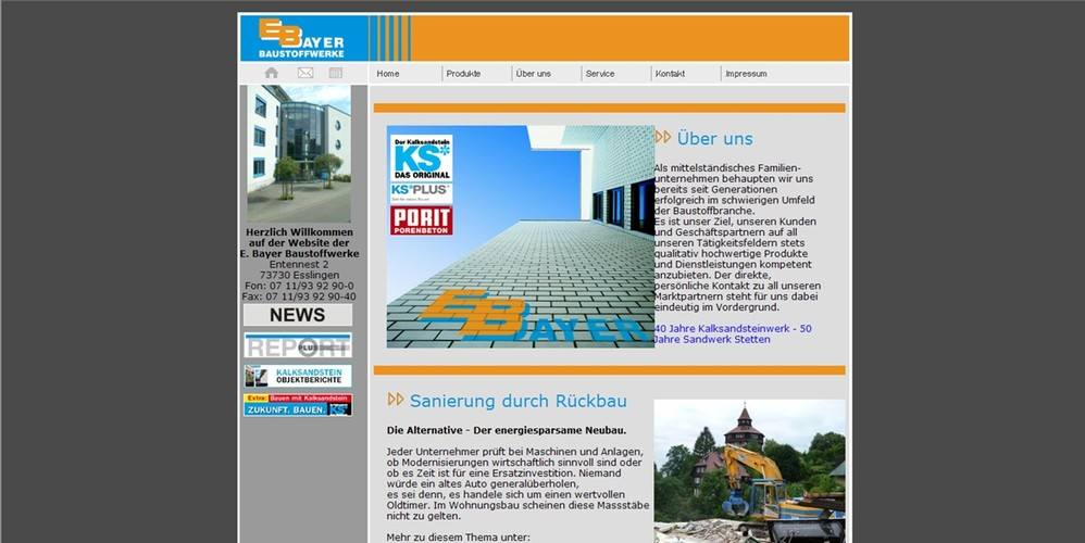 Baustoffe Kerner Betriebe Im Internet